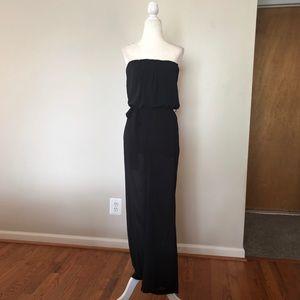 Forever 21 black strapless jumpsuit